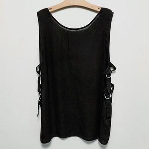 Asos Black Sheer Pullover Open Sides size 14